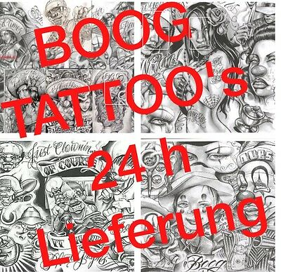 Tattoovorlagen 300 Boog Tattoo Flash CD Motive chicano style Old School DOWNLOAD