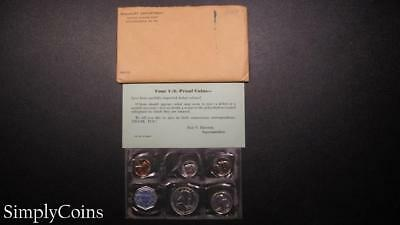 1959 Proof Set ~ Original Envelope With COA ~ US Mint Silver Coin Lot SKU-948
