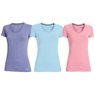 Under Armour Womens Charged Cotton V-Neck T-Shirt XS / Small - Short Sleeve Top