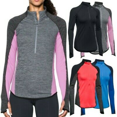 Under Armour Womens ColdGear Half Zip Top - New UA Warm Long Sleeve CG Pullover