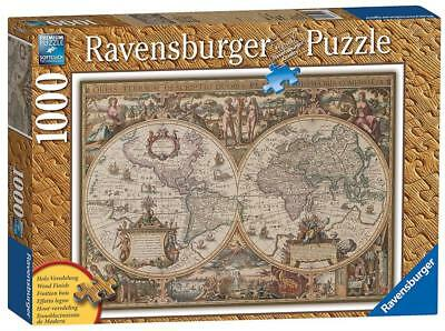 Ravensburger political world map jigsaw puzzle 1000 piece 1999 ravensburger 19004 high quality antique world map 1000 pieces jigsaw puzzle gumiabroncs Images