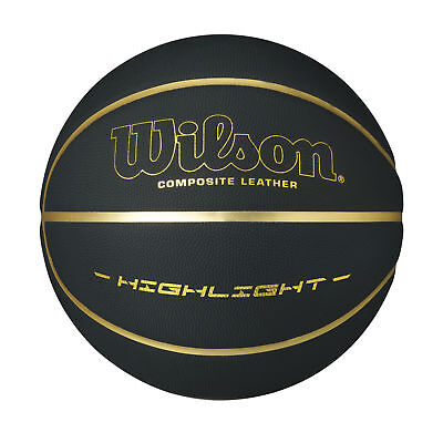 Wilson 2018 Highlight 295 Logo Basketball - Official Size - Black/Gold