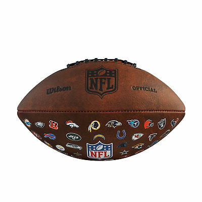 Wilson 2018 NFL Off Throwback 32 American Football - Official Size - Tan