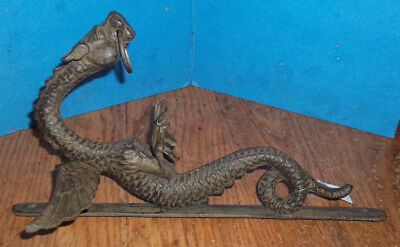 "Door Knocker, Iron Dragon Antique style ""Needs Bell"""