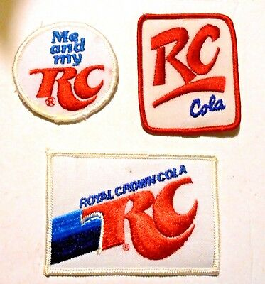 Lot of Royal Crown Soda Embroidered patches Soft Drink  Vintage