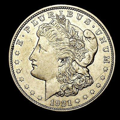 1921 D ~**ABOUT UNCIRCULATED AU**~ Silver Morgan Dollar Rare US Old Coin! #R42
