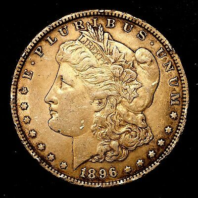 1896 P ~**ABOUT UNCIRCULATED AU**~ Silver Morgan Dollar Rare US Old Coin! #D17