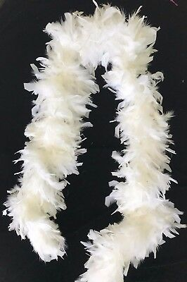 women SEXY THICK WHITE FEATHER BOA HALLOWEEN WEAR NEW NWOT great quality 76 inch