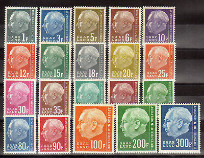 7005 Germany Saarland 1957 Definitives Heuss II Complete set **MNH