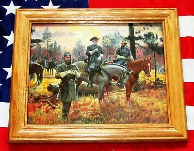 Civil War Print. Mort Kunstler, CONFEDERATE SUNSET. Lee, Jackson, Longstreet