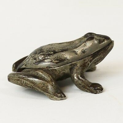 Antique Cast Iron Frog Match Safe Advertising Pointer Stoves and Ranges