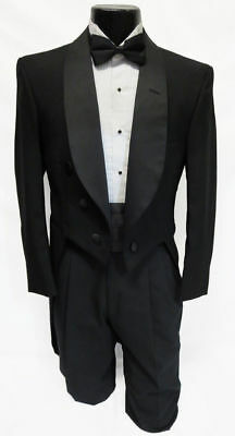 Boys & Mens Black Perry Ellis Tuxedo Tailcoats Debutante Mardi Gras Tails Coat