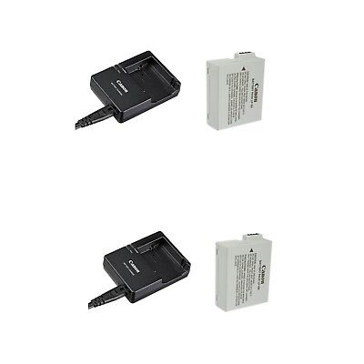 2X Canon LP-E8 Rechargeable Lithium-Ion Battery AND Canon LC-E8E Charger