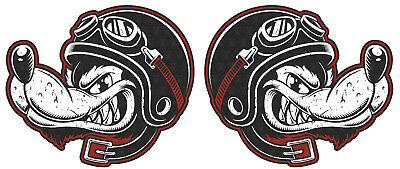 2er Wolf Sticker Biker USA Rockabilly Tuning Girl V8 Aufkleber Oldschool 15cm