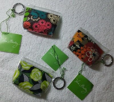 Vera Bradley Zippidy Keychain Lot of all 3 Lola Bittersweet La Neon Rose NWT