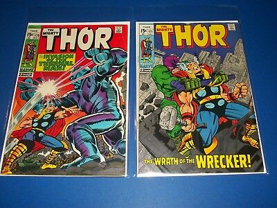 The Mighty Thor #170,171 Bronze Age Wrecker Lot of 2 1st Thermal Man