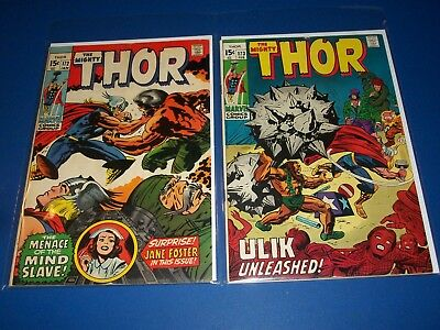 The Mighty Thor #172,173 Bronze Age Lot of 2 Wow