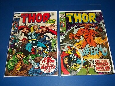 The Mighty Thor #176,177 Bronze age Lot of 2 VG+/Fine- Surtur Beauties