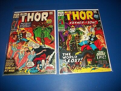 The Mighty Thor #186,187 Bronze Age VG+ to Fine- Hela