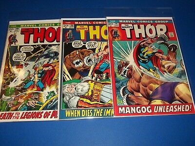 The Mighty Thor #197,198,199 Bronze Age Run of 3 1st Ego Prime