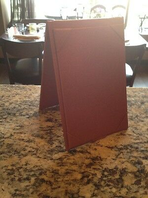 Brand New High Quality Restaurant Table Menu Standing Brown Cooper Color Lot 20