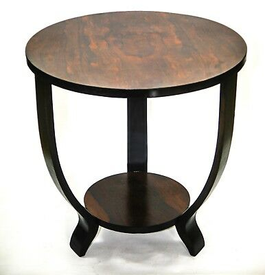 FRENCH ART DECO SIDE TABLE Maurice Dufrene Style Rosewood top