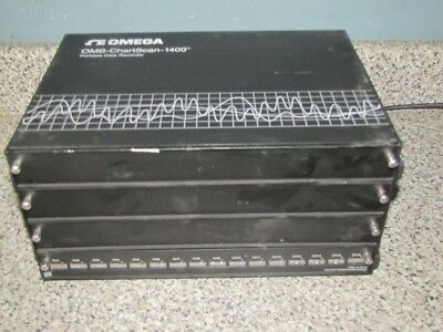 Omega Omb-Chartscan 1400 Portable Data Recorder W/ Csn 14/tc/p Thermocouple Mod