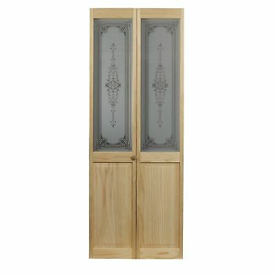 AWC 347 Heywood Glass 32-inch x 80.5-inch Unfinished Bifold Door