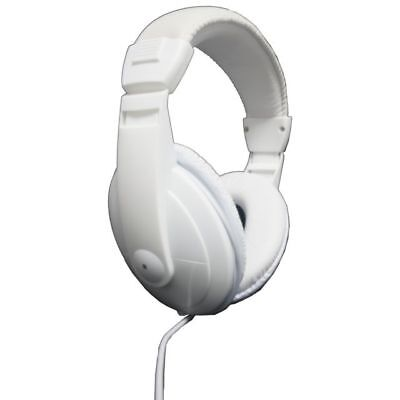 Vibe Sound DJ Style Noise Reduction Headphones Stereo All Mp3 Player White New
