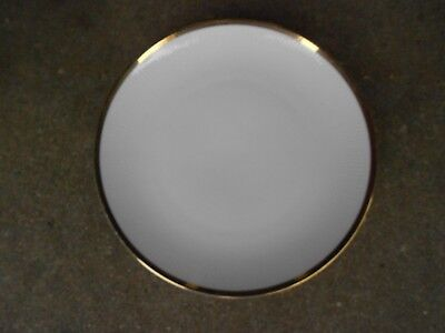 "Mitterteich Bavaria Germany 9 1/2"" DINNER PLATE  Gold and Black Zig Zag Border"