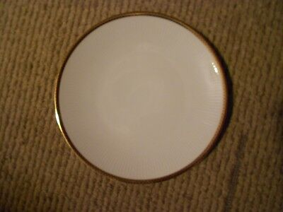 "Mitterteich Bavaria Germany 7 3/4"" SALAD/DESSERT PLATE  Gold and Black Zig Zag"