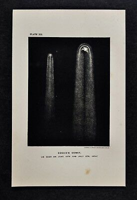 1897 Astronomy Print - Coggia Comet - Great Comet of 1874 - Lithograph Star Map