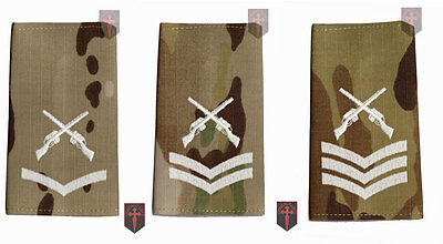 Pair Multicam MTP SAA Rank Slide Skill At Arms Instructor - LCPL CPL SGT