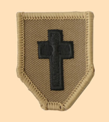 NEW OFFICIAL Chaplains collar patch, tan