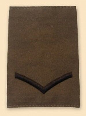 New PAIR Olive Green Lance Corporal L/CPL RANK SLIDES