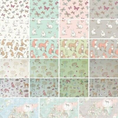 100% Cotton Fabric Lifestyle Woodland Animals 140cm Cushion Upholstery