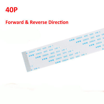 40-Pin FFC/FPC Flexible Flat Ribbon Cable Forward & Reverse Pitch 0.5mm 1mm