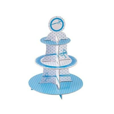 Dots Blue Cake Stand 3 Tiers Round - Stands Party Picks Design Givi Italia