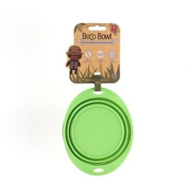 Beco Pets Travel Bowl, Small, Green - Bowl Friendly Silicone Dog Collapsible