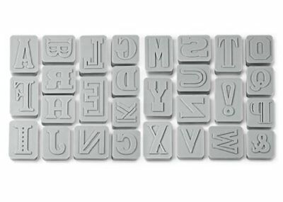 Fred & Friends LETTER PRESSED Combination Cookie Cutter Stampers