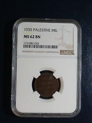 1935 PALESTINE MIL NGC MS62 BN 1M Coin PRICED TO SELL NOW!