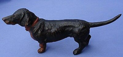 Antique Black Tan Dachshund Vienna Austria 6""