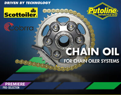 Motorcycle Chain System Refill Oil 500 ml, Works with Cobra Nemo, Scottoiler Etc