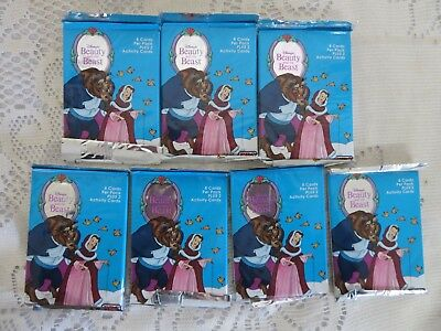 7 Sealed Beauty & the Beast Trading Activity Cards 8 Cards +2 Activity Cards