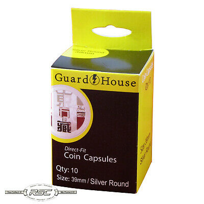 10 - Guardhouse (AirTite) Direct Fit Capsules - H39 39mm for Casino Chips