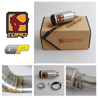 Toro T2 GP Stainless / Carbon Exhaust for KTM Duke 200 12-14