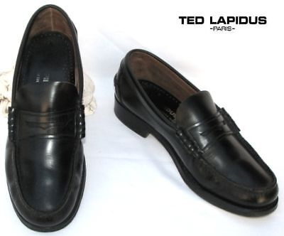 Ted Lapidus - Mocassin Leather Shiny Black 41 - Perfect Condition