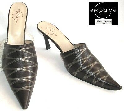 Espace Clergerie - Backless Shoe All Leather Dark Chocolate 40 - Mint