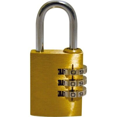 25mm Small Combination Padlock - Bushcraft Bcb Brass