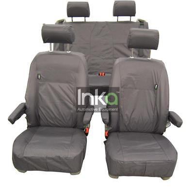 VW California T5 T6 Front & Rear Inka Tailored Waterproof Seat Covers Grey